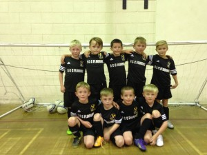 Eagley FC Under 8's 2nd strip - sponsors A&C Flooring
